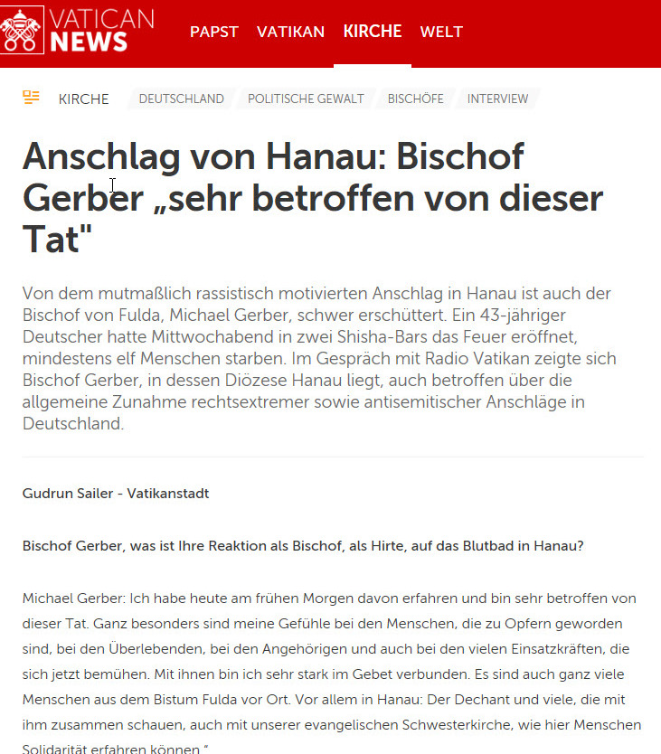 Bischof Gerber - Interview mit Vatican News